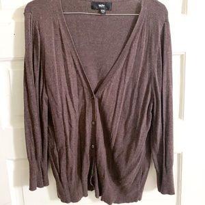 Dark brown over-sized cardigan